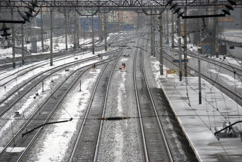 Stazione ferroviaria. fotografia stock