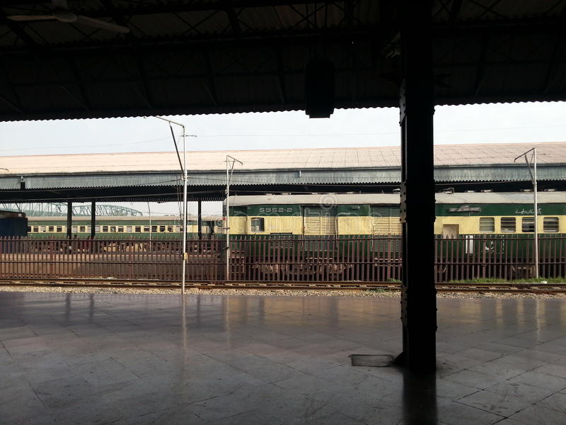 Stazione ferroviaria britannica immagine stock libera da diritti