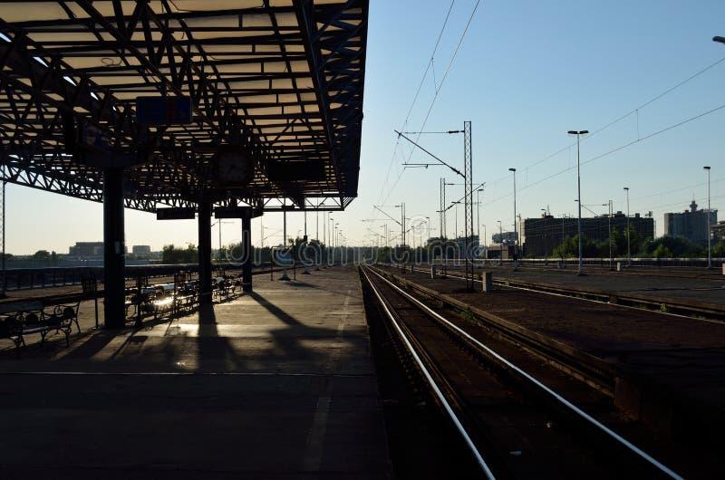 Stazione ferroviaria britannica fotografie stock