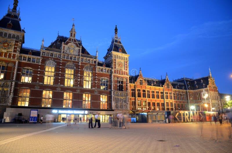 Stazione Ferroviaria Centrale - Amsterdam, Paesi Bassi Immagine Editoriale