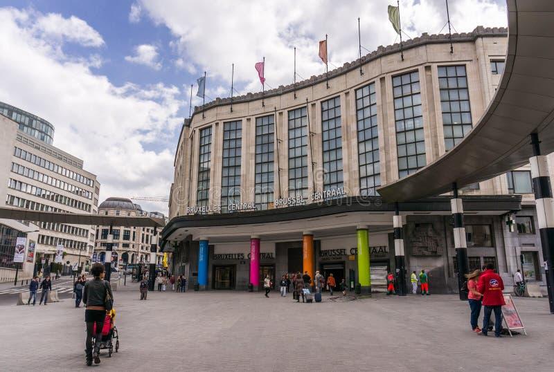 Stazione ferroviaria centrale, Bruxelles fotografia stock