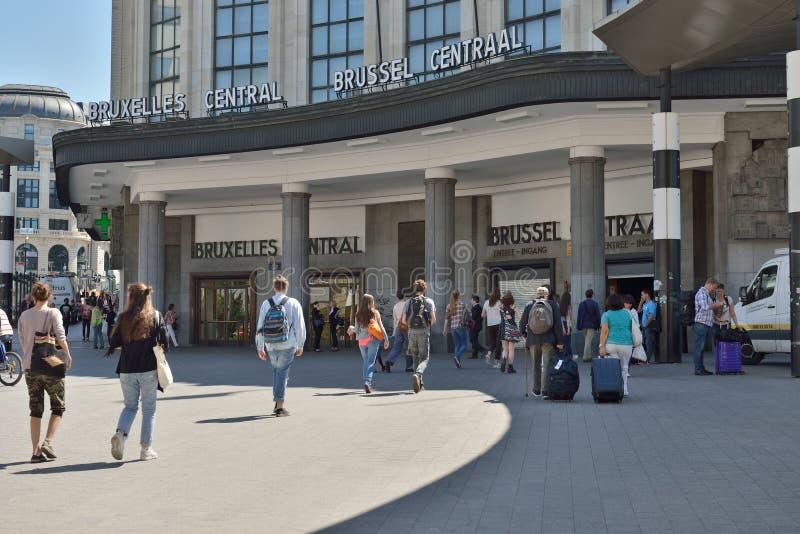 Stazione ferroviaria centrale a Bruxelles fotografia stock