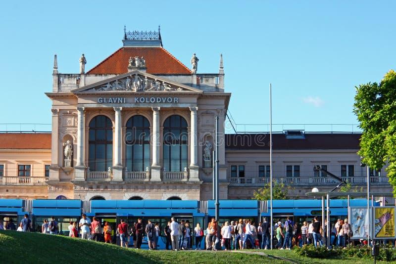 Stazione ferroviaria centrale, Zagabria fotografia stock libera da diritti