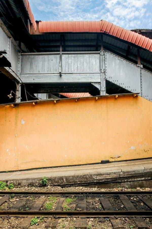 Stazione ferroviaria a Colombo fotografia stock