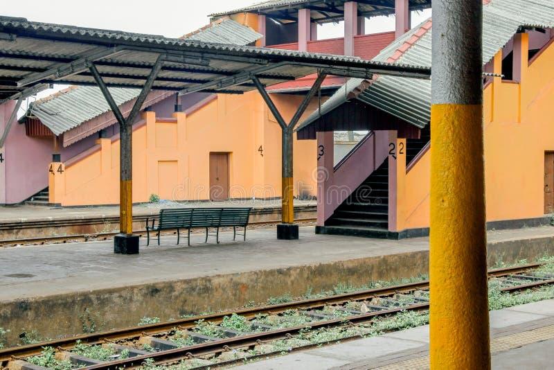 Stazione ferroviaria a Colombo fotografie stock libere da diritti
