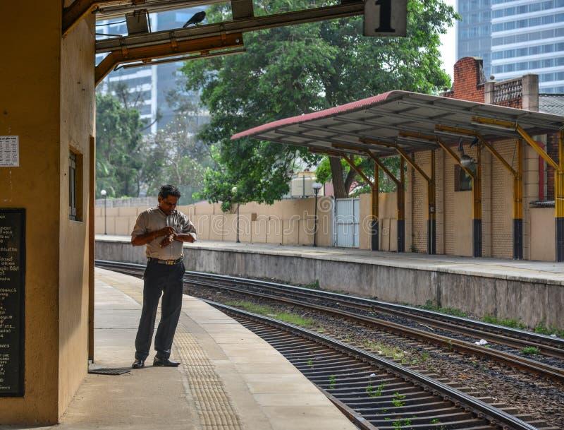 Stazione ferroviaria a Colombo, Sri Lanka fotografia stock libera da diritti