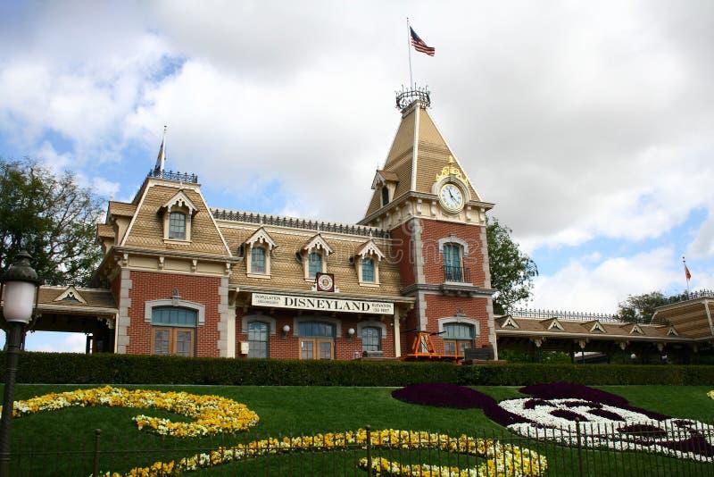 Stazione ferroviaria del Disneyland fotografia stock