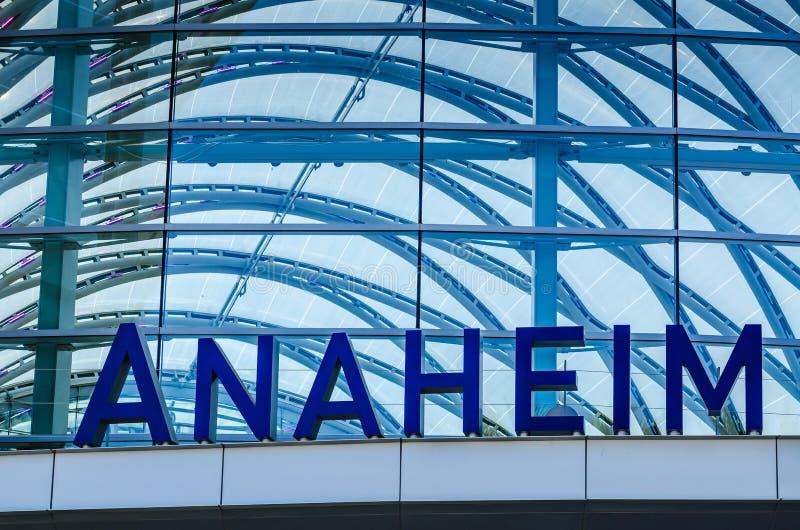 Stazione ferroviaria di Anaheim - Anaheim, California fotografia stock