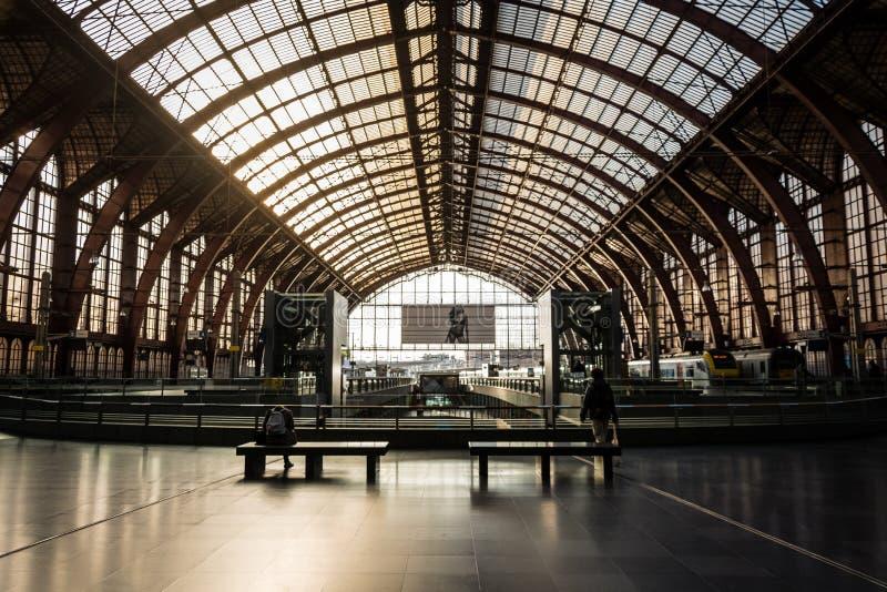 Stazione ferroviaria di Anversa - Belgio fotografia stock libera da diritti