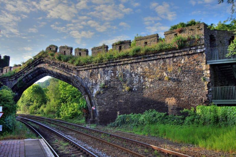 Stazione ferroviaria di Conwy fotografia stock libera da diritti