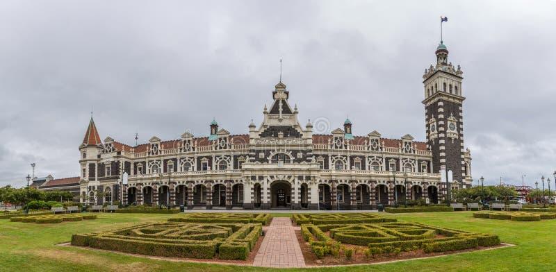 Stazione ferroviaria di Dunedin, Dunedin, isola del sud della Nuova Zelanda immagine stock