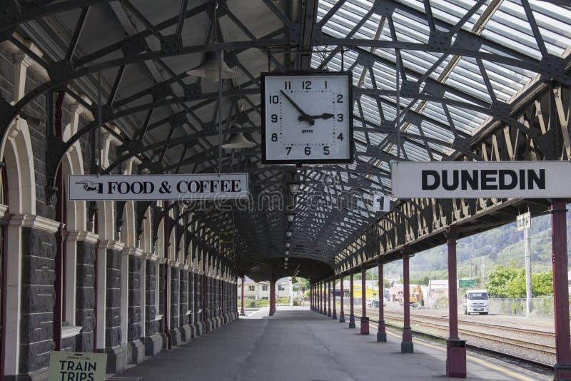 Stazione ferroviaria di Dunedin, Nuova Zelanda immagine stock libera da diritti