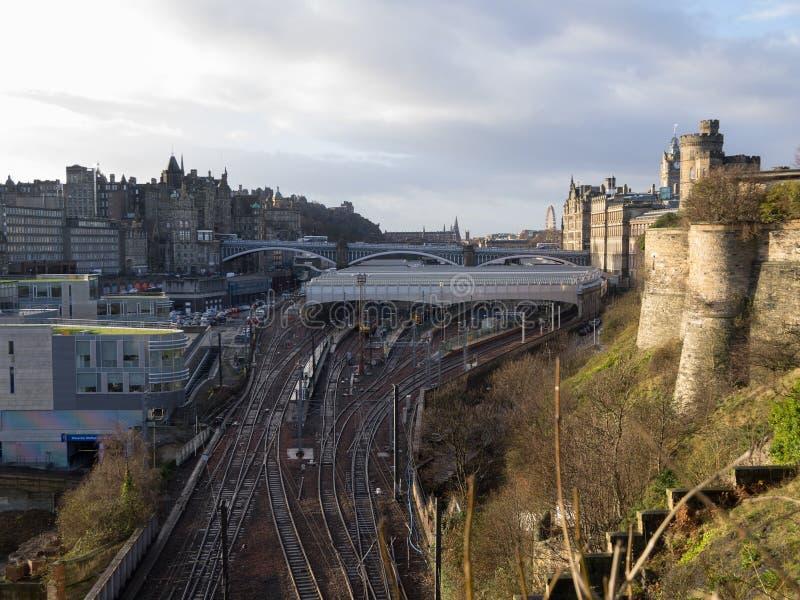 Stazione ferroviaria di Edimburgo Waverly immagine stock