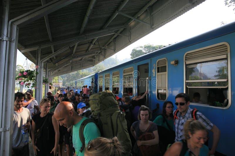 Stazione ferroviaria di Ella Town immagine stock