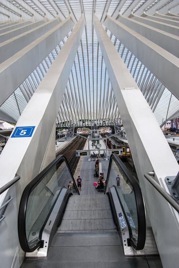 Stazione ferroviaria di Liège-Guillemins, Belgio fotografia stock