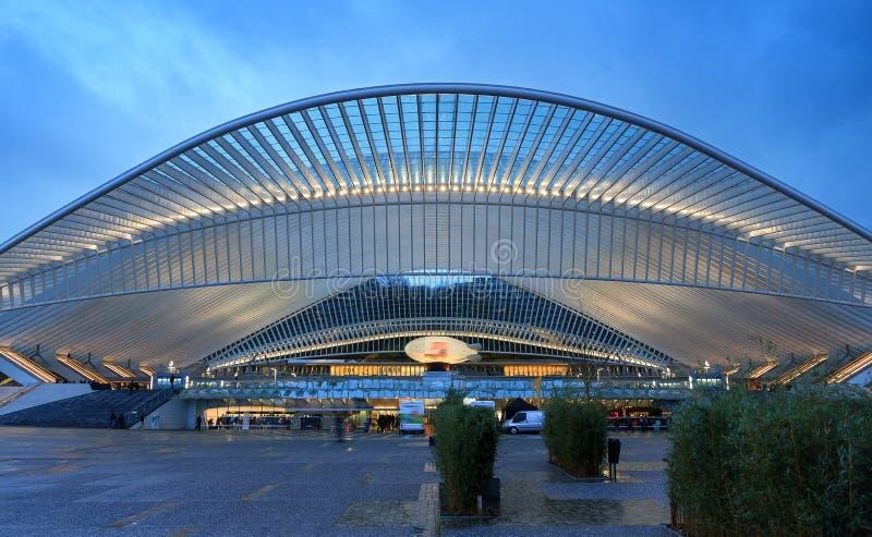 Stazione ferroviaria di Liegi Guillemins fotografie stock libere da diritti