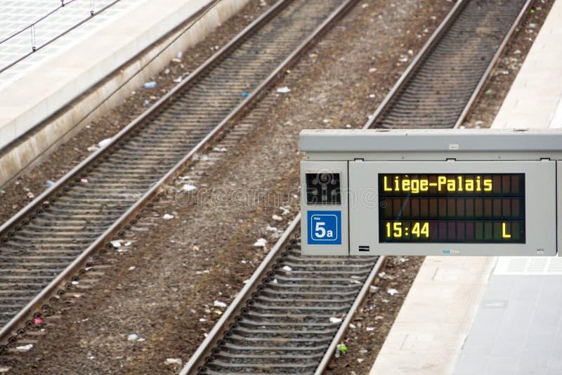 Stazione ferroviaria di Liegi-Guillemins immagini stock