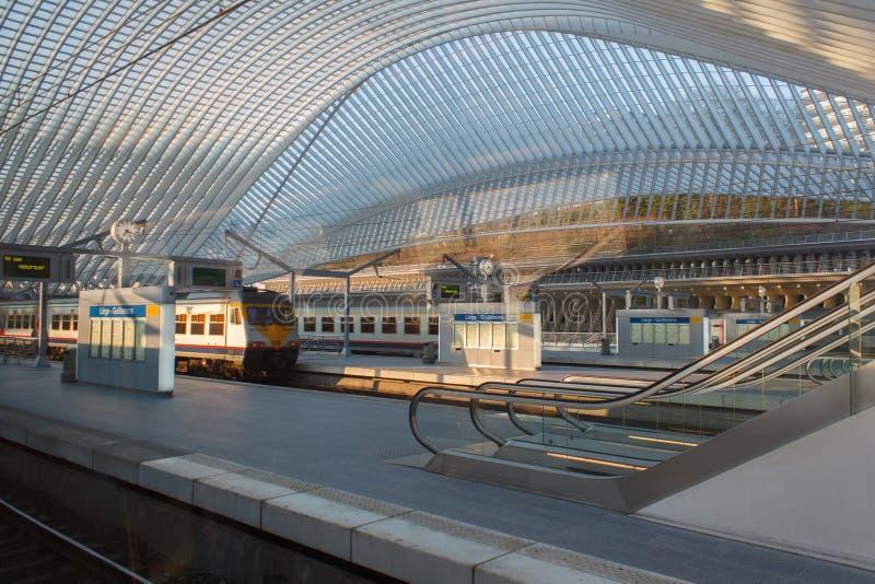 Stazione ferroviaria di Liegi-Guillemins fotografia stock