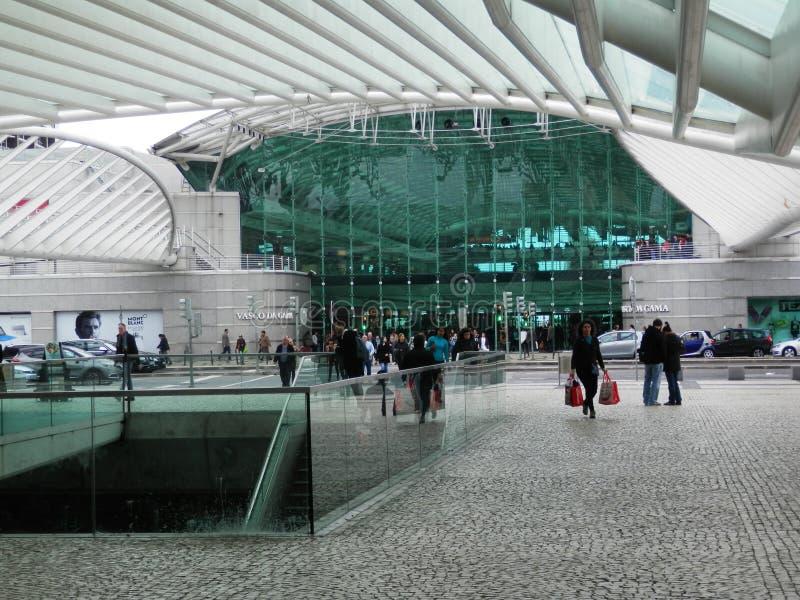 Stazione ferroviaria di Lisbona Oriente immagine stock