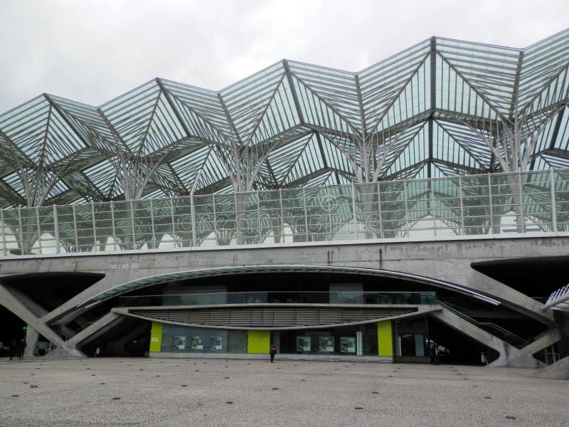 Stazione ferroviaria di Lisbona Oriente fotografia stock