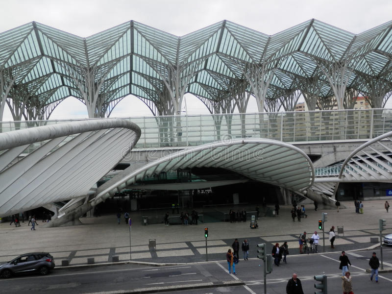 Stazione ferroviaria di Lisbona Oriente fotografie stock