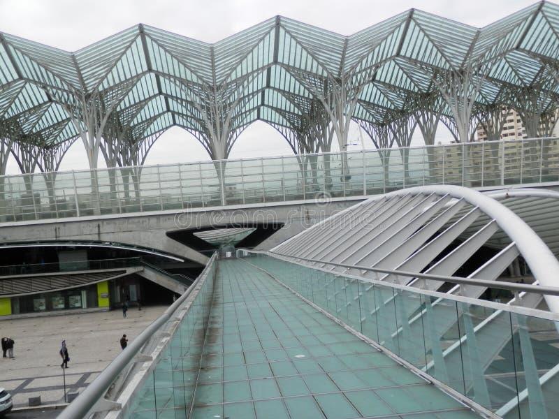 Stazione ferroviaria di Lisbona Oriente fotografia stock libera da diritti