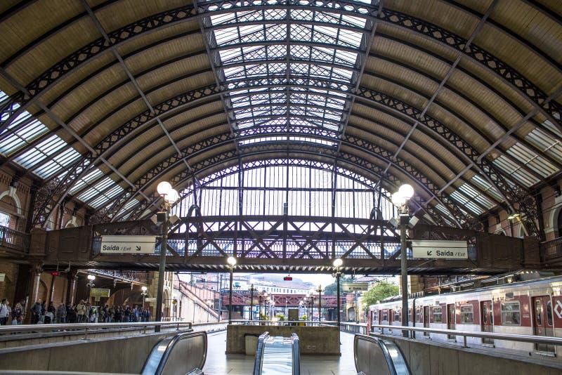 Stazione ferroviaria di Luz fotografie stock
