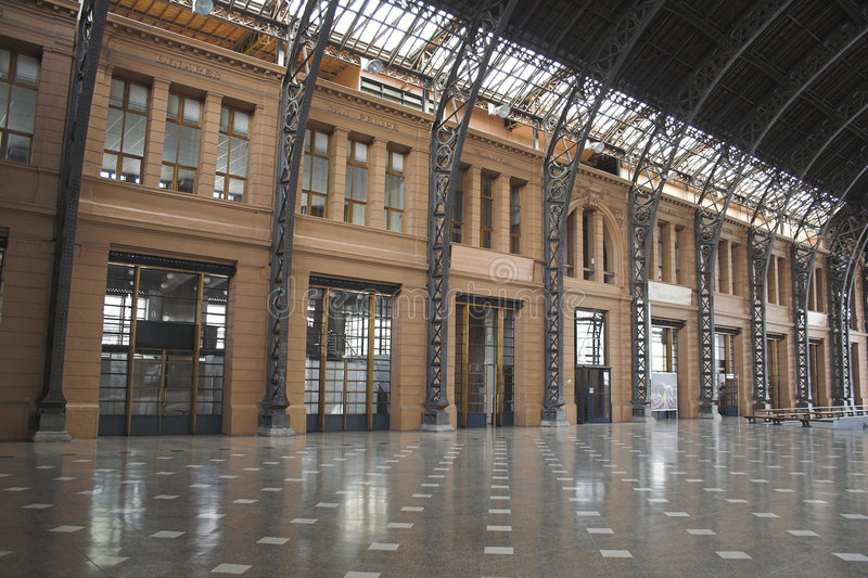Stazione ferroviaria di Mapocho fotografia stock