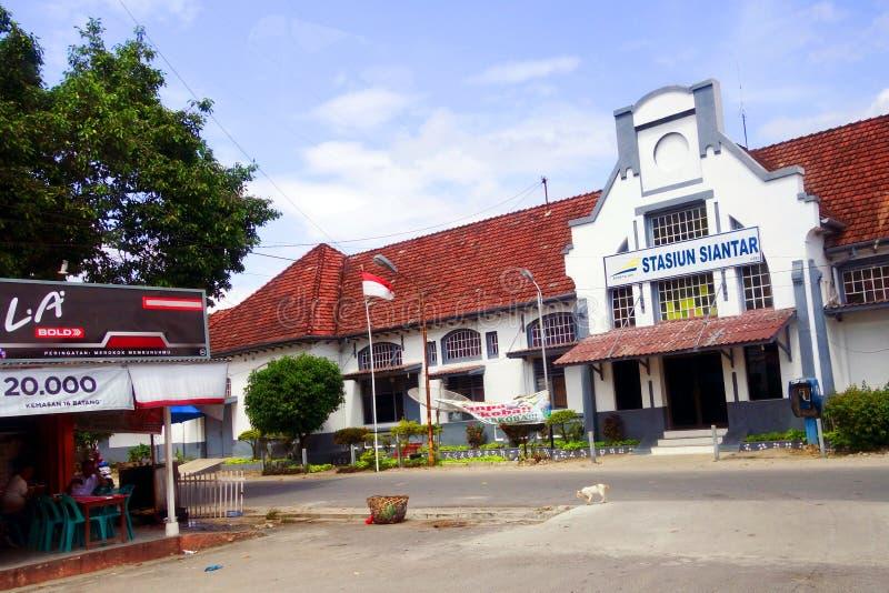 Stazione ferroviaria di Pematangsiantar fotografia stock