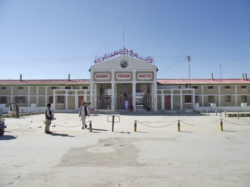 Stazione ferroviaria di Quetta immagine stock libera da diritti