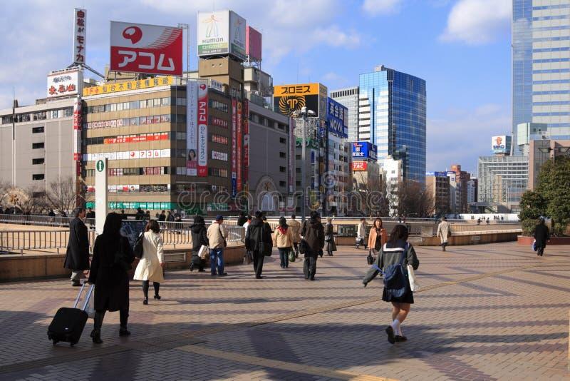 Stazione ferroviaria di Sendai immagini stock libere da diritti