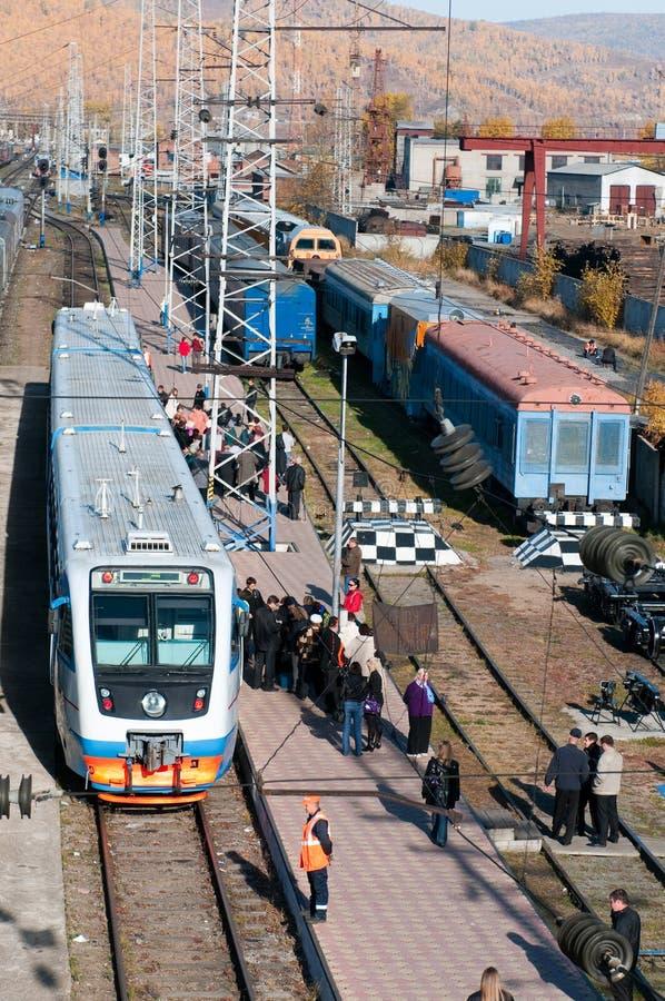 Stazione ferroviaria di Slyudyanka fotografie stock libere da diritti