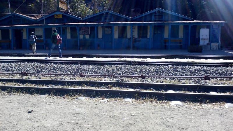 Stazione ferroviaria di Solan fotografia stock