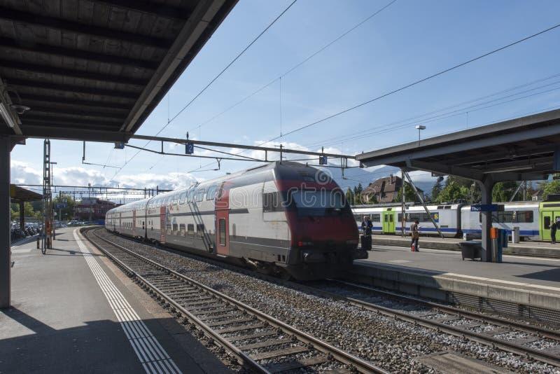 Stazione ferroviaria di Thun, Svizzera fotografia stock libera da diritti