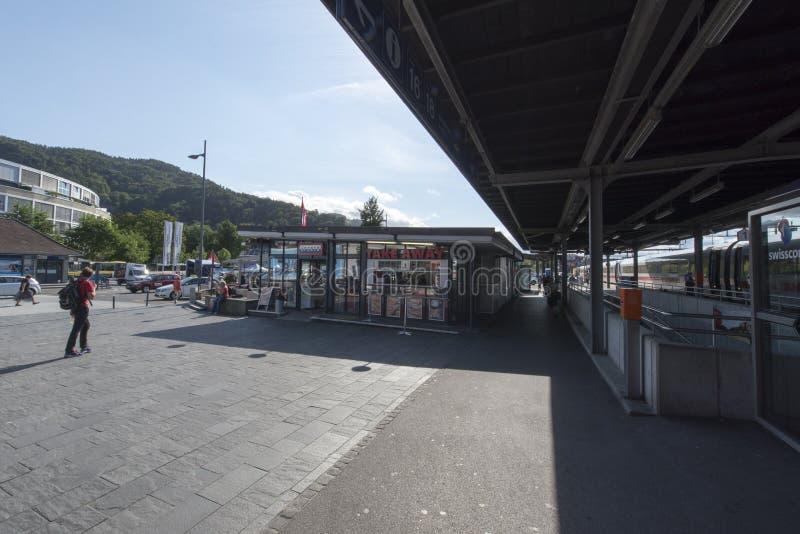 Stazione ferroviaria di Thun, Svizzera immagini stock libere da diritti