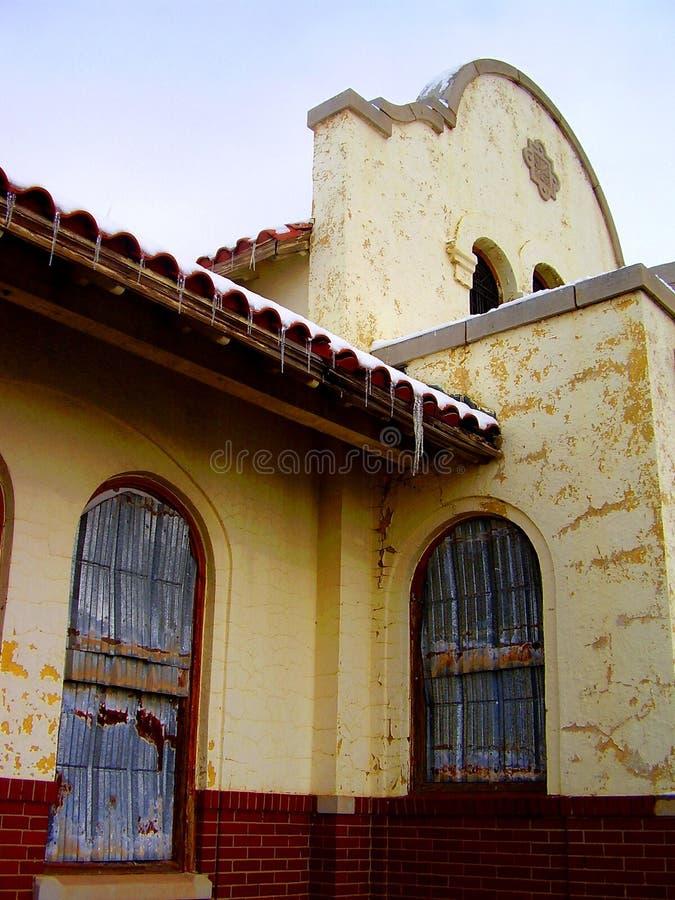 Stazione ferroviaria di Tucumcari immagine stock libera da diritti