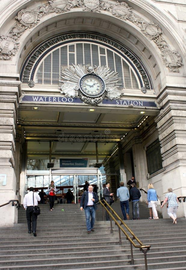 Stazione ferroviaria di Waterloo fotografie stock libere da diritti