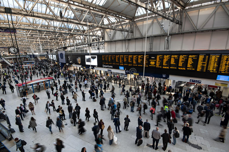 Stazione ferroviaria di Waterloo fotografia stock