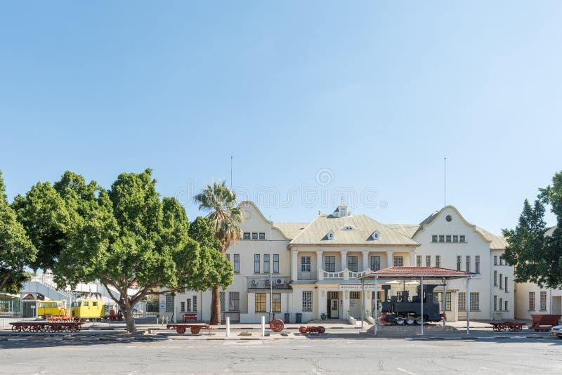 Stazione ferroviaria e museo a Windhoek fotografia stock libera da diritti
