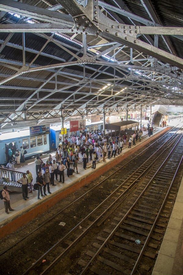 Stazione ferroviaria forte a Colombo, Sri Lanka fotografie stock libere da diritti