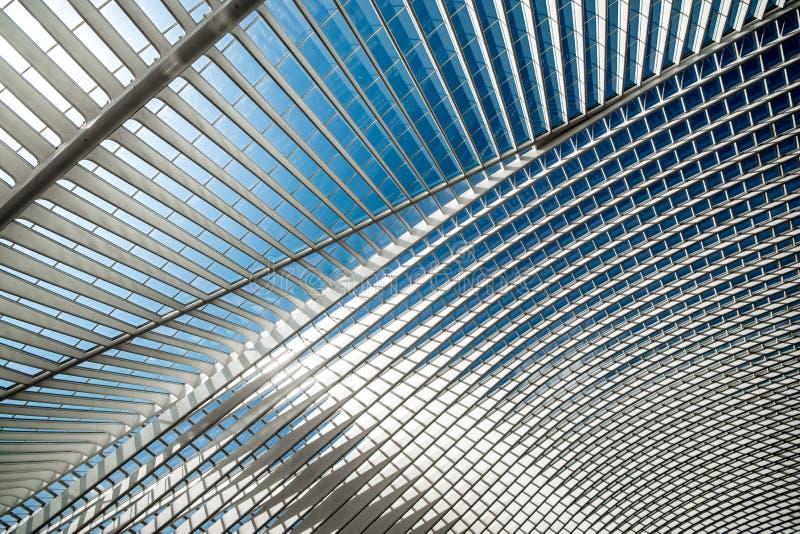 Stazione ferroviaria Guillemins a Liegi, Belgio fotografie stock libere da diritti
