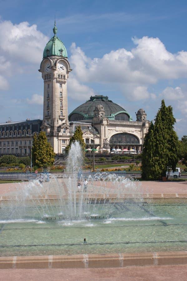 Stazione ferroviaria a Limoges immagini stock libere da diritti