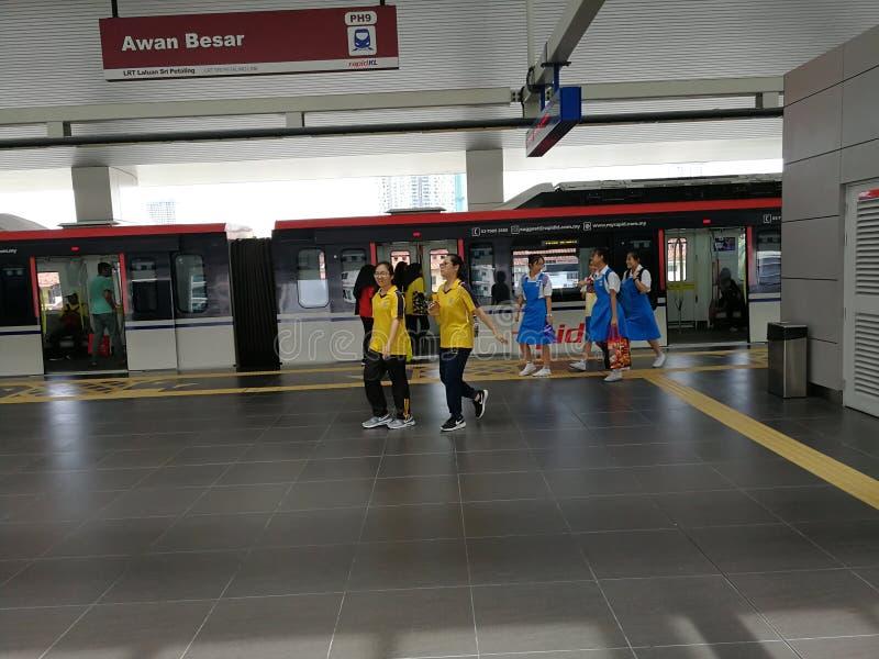Stazione ferroviaria in Malesia fotografia stock libera da diritti