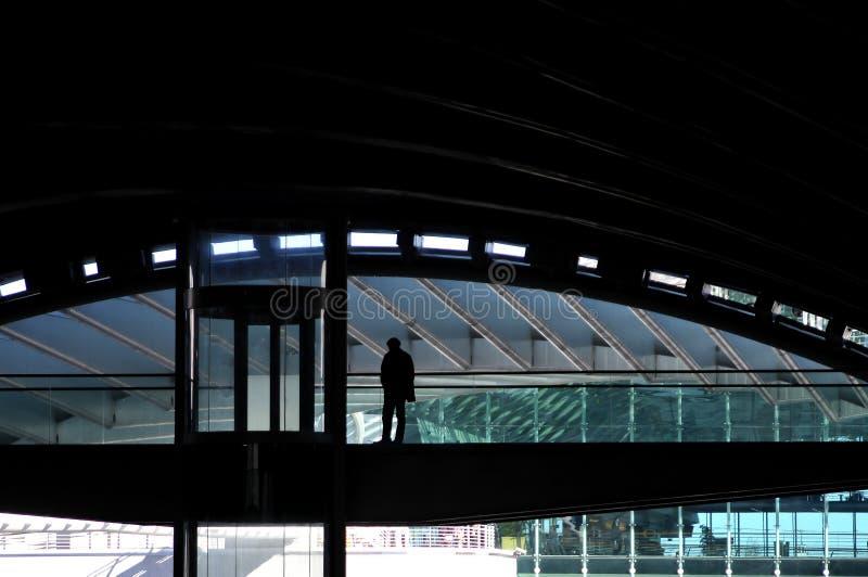 Stazione Ferroviaria Moderna Fotografia Editoriale