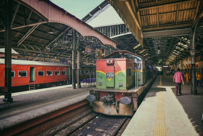 Stazione ferroviaria nella città di Colombo fotografia stock