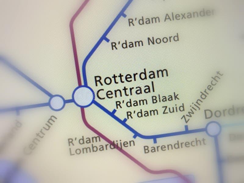Stazione ferroviaria olandese Rotterdam Centraal immagine stock libera da diritti