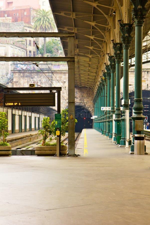 Stazione ferroviaria, Oporto, Portogallo fotografia stock