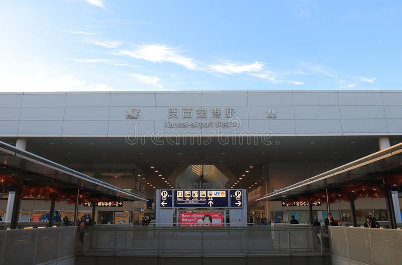 Stazione ferroviaria Osaka Japan dell'aeroporto internazionale di Kansai immagini stock