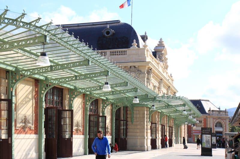 Stazione ferroviaria piacevole, Francia fotografia stock libera da diritti