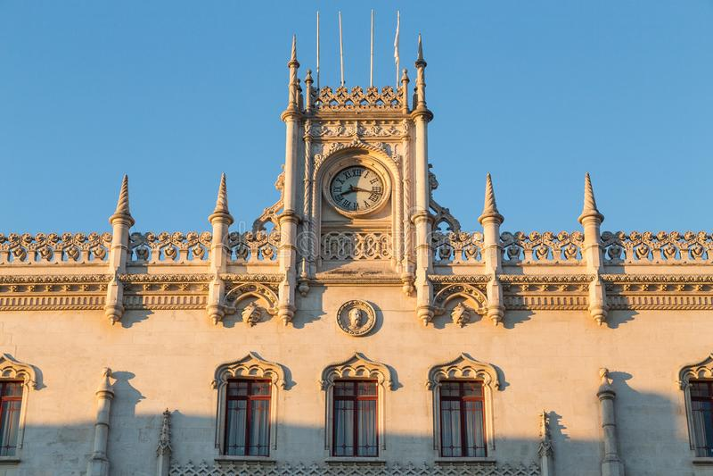 Stazione ferroviaria Portogallo di Lisbona Rossio immagini stock